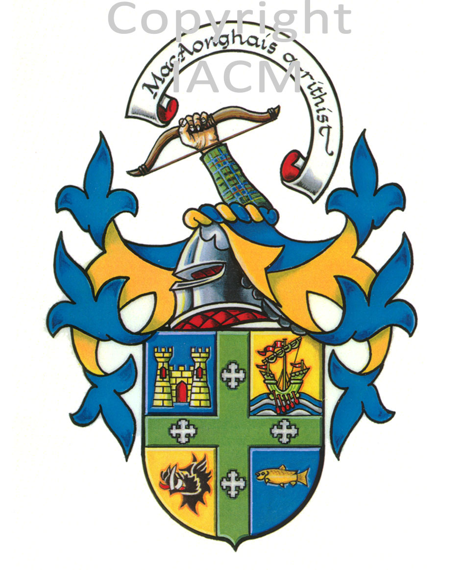 Macinnes crest coat of arms tattoo for Family motto tattoos